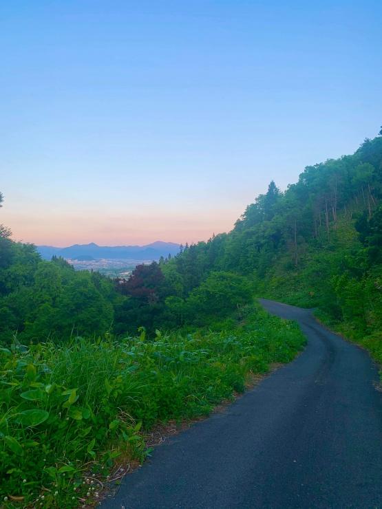 ロードから見える景色