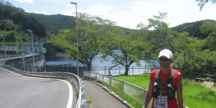 第2エイド 青蓮寺湖畔