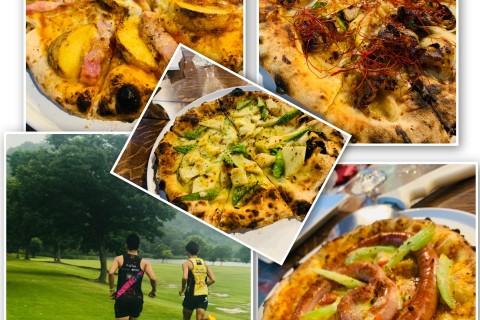 【欲望を満たす食× ランニング】THE幸福ピザ& のどかな空気感じながらサクッと競技場練習