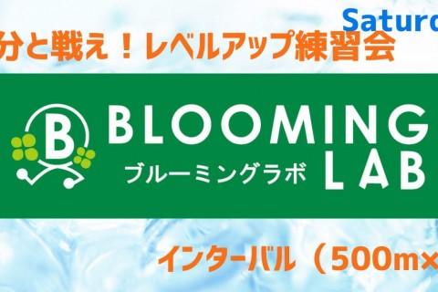 【ブルーミングラボ】レベルアップ練習会 Saturday <500m×8>