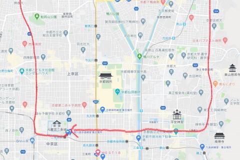 夜の京都を駆け抜ける!今年最後の上京区一周遠足ラン17キロ【サトウ練習会】1,200円