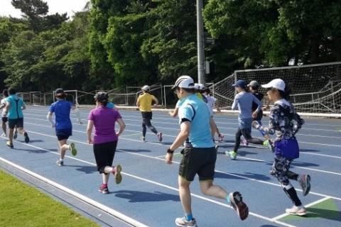 マラソン完走クラブ 300M×最大15本(世田谷大蔵陸上競技場)