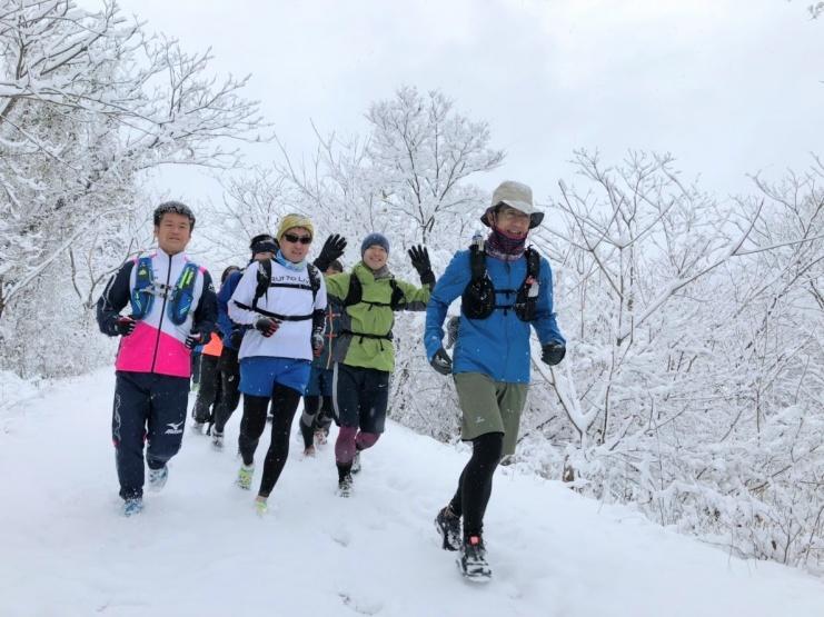 12月9日試走会は雪でした
