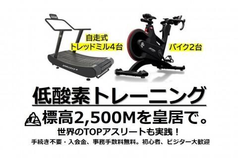 11/25(水)台数限定【低酸素RUN/WALK/バイク】各枠トレッドミル4台/バイク2台