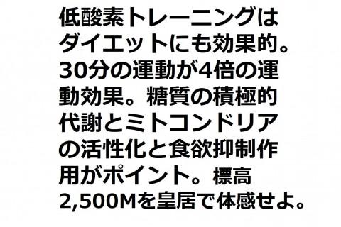 11/23(月祝)台数限定【低酸素RUN/WALK/バイク】各枠トレッドミル4台/バイク2台