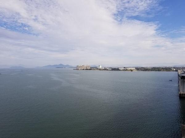 大橋展望台より湖北を望む