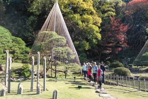紅梅白梅の大名庭園!哲学堂公園、鬼子母神、肥後細川庭園、後楽園、神田川を走る21km&10km他
