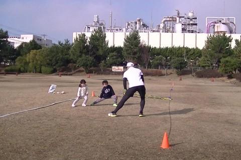 【明石:二見会場】2021春キッズ走り方教室 主催:サムズアップランニングクラブ
