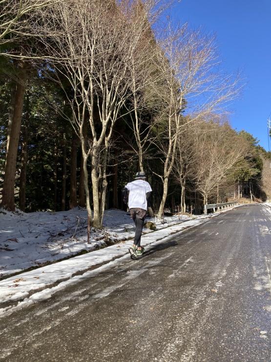 黒田湖周回コース途中