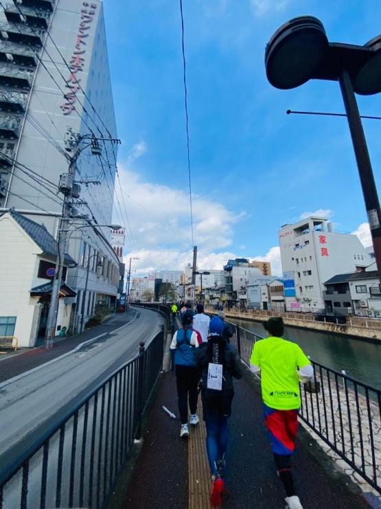 福岡市を駆け抜けます!