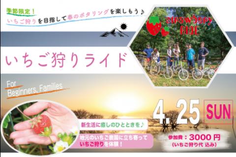 季節限定!いちご狩りを目指して春の霞ヶ浦サイクリングを楽しもう♪「いちご狩りライド」