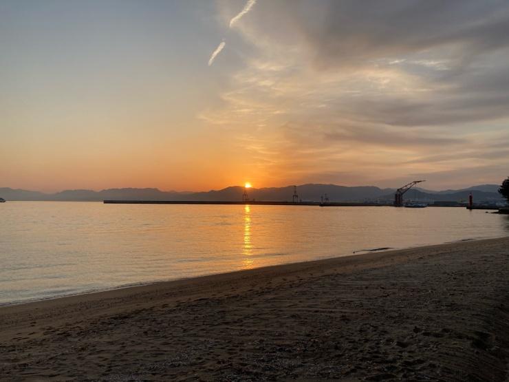 夕陽がとてもきれいな場所です。