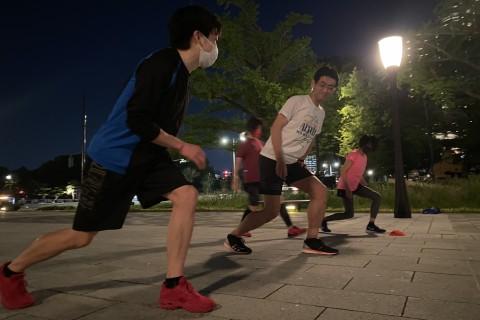 300m坂ダッシュで脚力強化、重心移動を身につけよう!