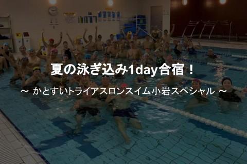 夏の泳ぎ込み1day合宿!かとすいトライアスロンスイム小岩スペシャル