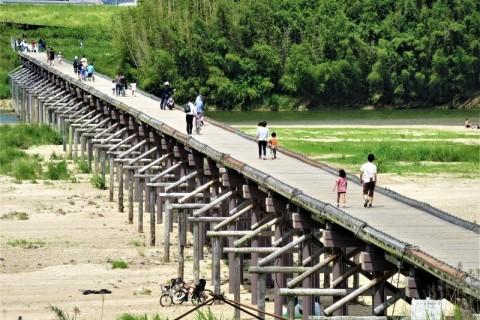 木津川の流れ橋と純氷かき氷の枚方凍氷。夏の遠足ラン36キロ(63キロ、25キロ)【サトウ練習会】