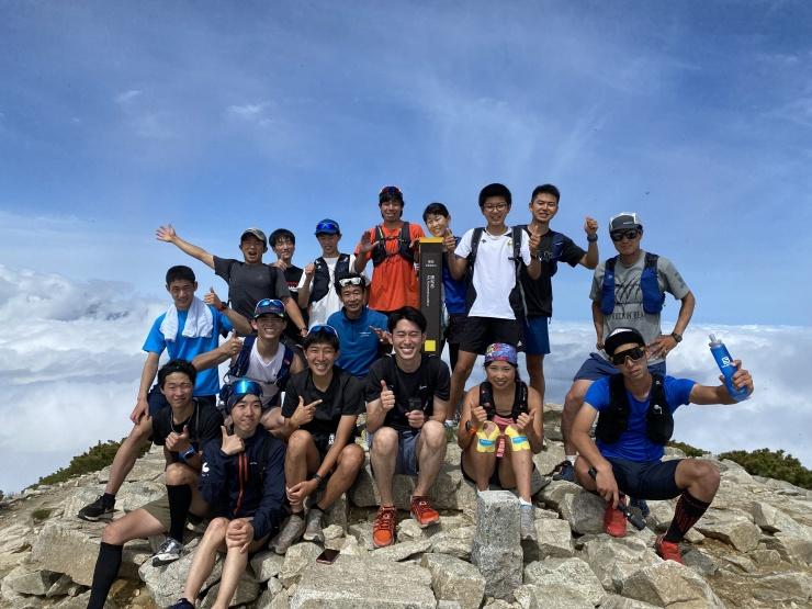 唐松岳での練習。高村選手の密着で信州テレビの取材も!