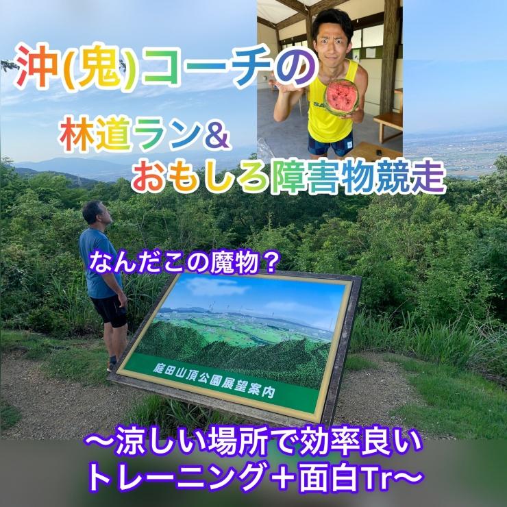 【8.1日曜】岐阜・沖コーチの庭田山林道ラン& おもしろ障害物競走