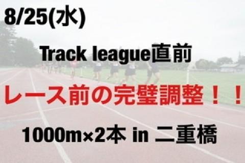 8/25 レース前の完璧調整!1000m×2本 in二重橋前