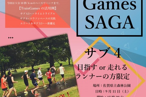 Train Games SAGA(5分10秒/kmでハーフマラソン)