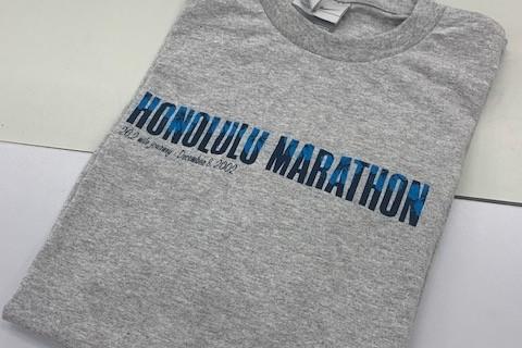 """第4弾!参加賞何が当たるかお楽しみオンラインマラソン!1名様に""""ホノルルマラソンTシャツ(S)""""が!"""