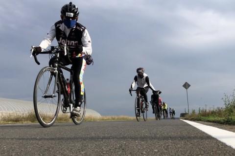 秋のリバーサイドサイクリング 霞ヶ浦総合公園レストハウス水郷前駐車場発着77km
