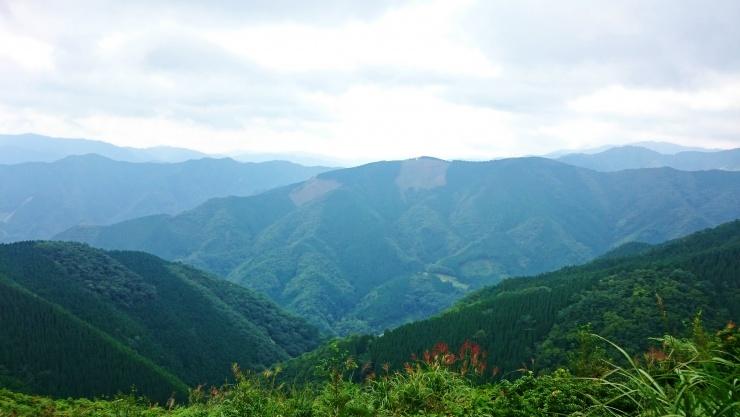 九州脊梁山地が望めます