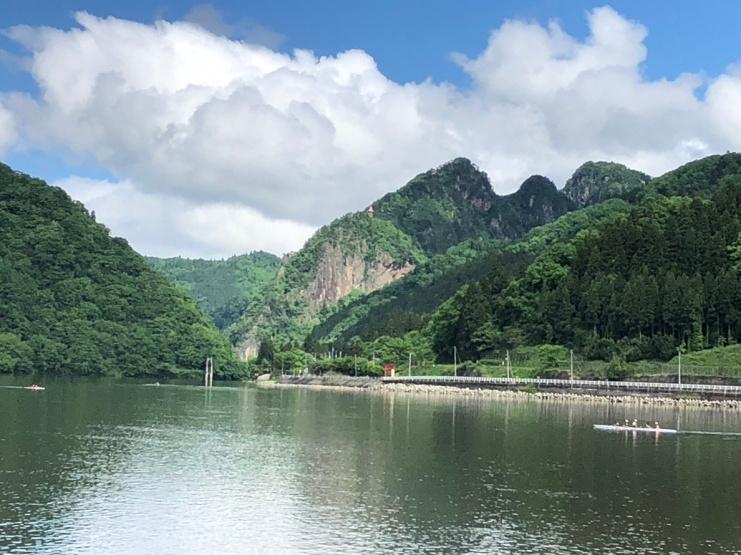 会場からの風景(阿賀野川)